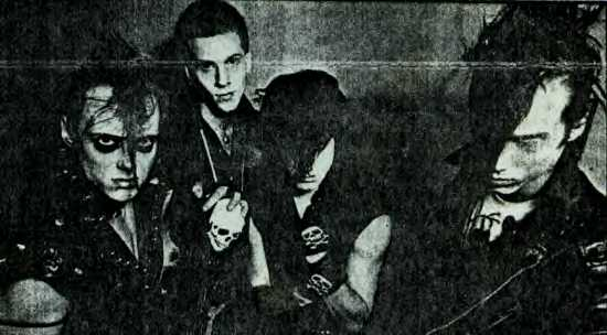 Right to Left: Jerry Only, Arthur Googy, Glenn Danzig, and Doyle Wolfgang von Frankenstein in 1981