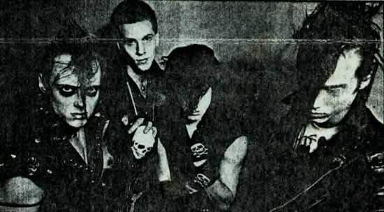 Right to Left: Jerry Only, Arthur Googy, Glenn Danzig, and Doyle Wolfgang von Frankenstein in 1981